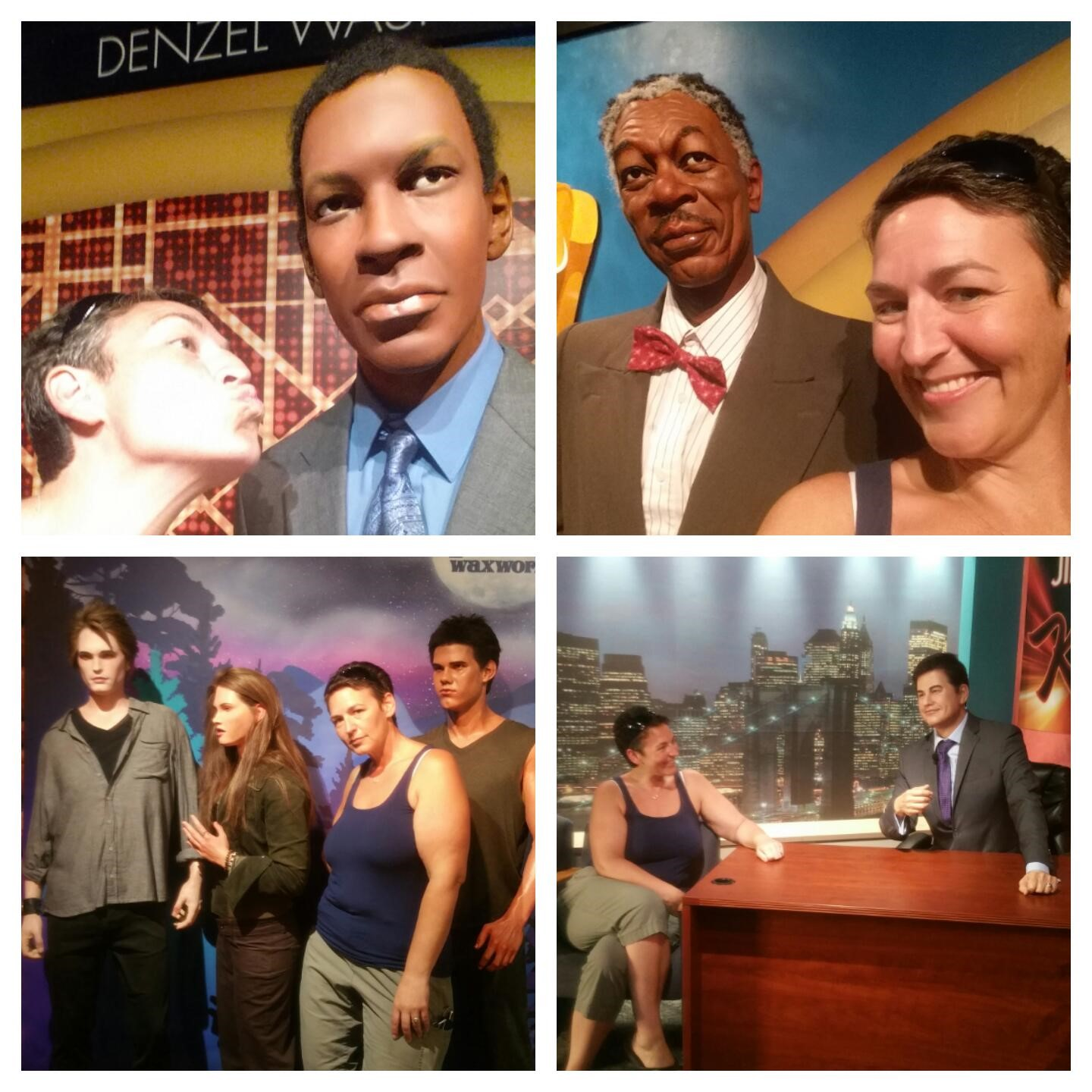 wax museum collage